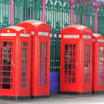 """Phone Boxes at Smithfield Market"" by t"