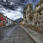 """Cobbled Street and Volcano"" by dawilson"