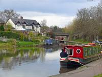 Boating on the Canal, Cheshire, England