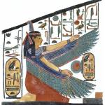 """Maat Protecting the Name of Nefertari"" by MoralesCorrea"