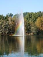 Water Fountain with Rainbow