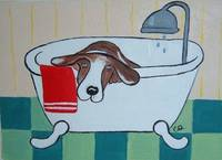 Puppy in the Bathtub