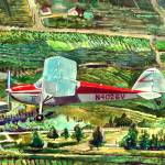 """1948 Cessna 170 over the Orchards"" by Anno"