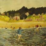 """Elizabeth at the Beach"" by dlmtleArt"