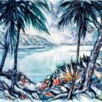 """blue green palms"" by jjwolf2"