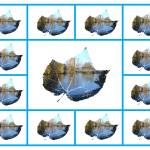 """River Leaf Abstract Collage  (15848-RXA)"" by rodjohnson"