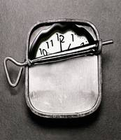 clock in sardine can