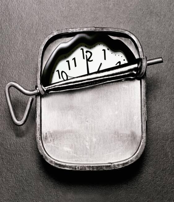 Clock In Sardine Can By Ken Tannenbaum