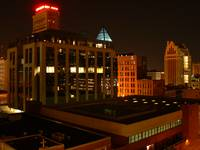 Concord Building & City Federal at Night