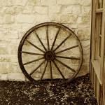 """""""Sepia wagon wheel 2"""" by MKWhite"""