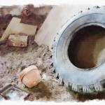 """Old Tire Watercolor"" by Photopaul65"