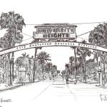 """University Heights - San Diego by RD Riccoboni"" by BeaconArtWorksCorporation"