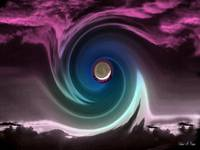 Colorful Moon Swirl