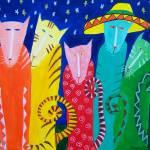 """""""FIESTA CATS"""" by mariagreene"""