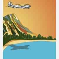 Fly Hawaii by Kent Air Art Art Prints & Posters by Robert & Kent Hamilton