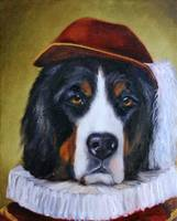 The Courtier- Bernese Mountain Dog By Violano