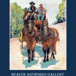 """""""Stagecoach Days in Old Town San Diego poster"""" by BeaconArtWorksCorporation"""