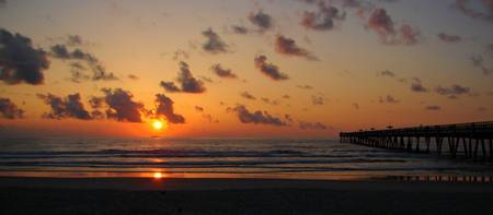 Jax Beach Pier Sunrise