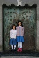 Turkish Children At The Church Door