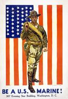 Be a U.S. Marine! by James Montgomery Flagg