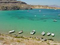 Floating Boats; Lindos, Greece