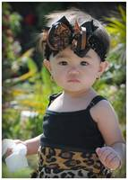 Isabella with Leopard outfit { Princess Bella Bows