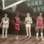 """NBA Basketball - 20th Century All-Stars"" by charcoalchet"