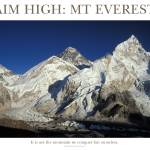 """Aim High: Mt Everest"" by adventureart"