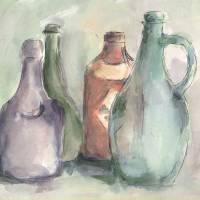 Bottle Quartet Art Prints & Posters by Ronald Jumper