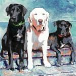 Waiting For Doc - Dog art by Riccoboni by RD Riccoboni