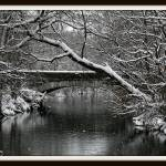 """Crestwood Bridge in Snow"" by Starry"