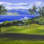 """Wailea, Maui, Hawaii Golf Fine Art Giclee Print"" by KeatingArt"
