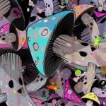 """mushroom graveyard"" by pokestuff"