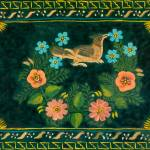 """Vintage Folk-Art Tray (artist unattributed)"" by arcaniumantiques"