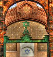 Gate and Funeral chapel, Jewish Cemetery Lodz, Pol