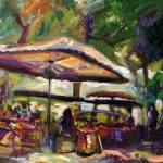 """Market In Provence France Original Oil Painting by"" by GinetteCallaway"