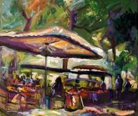 Market In Provence France Original Oil Painting by