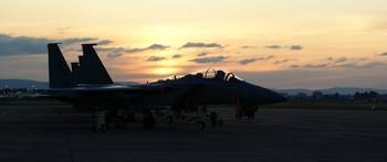 Sunset over the flight line