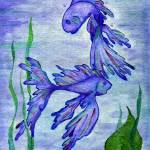 """""""Two Fish Blue"""" by SherryHolderHunt"""
