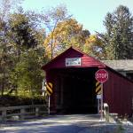"""Historic Logan Mills Covered Bridge"" by Finecrafted"