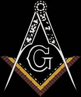 Masonic Square and Compass of Blue Lodge Freemason