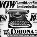 """Corona Typewriter advertisement 1931"" by arcaniumantiques"