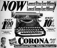 Corona Typewriter advertisement 1931