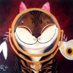 """Cat art by catmaSutra - Mirror Mirror on the Wall"" by catmasutra"