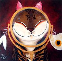 Cat art by catmaSutra - Mirror Mirror on the Wall