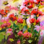 """Flowers & Bees Original Oil Painting by Ginette Ca"" by GinetteCallaway"