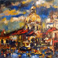 Venice Italy Grand Canal Modern Impressionism