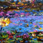 """Blue Pond Impressionist Oil Painting by Ginette"" by GinetteCallaway"