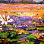 """Georgia Lily Pond Impressionist Painting"" by GinetteCallaway"