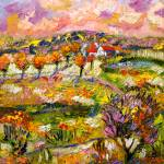 """Provence Summer Landscape Oil Painting"" by GinetteCallaway"